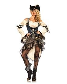 Treasure Island Pirate Adult Womens Costume