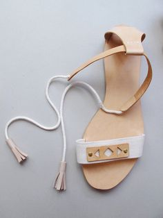 DIY sandals tutorial from lucille michieli