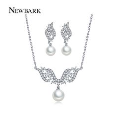 Find More Jewelry Sets Information about NEWBARK Simulated Pearl Set Bridal…