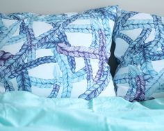 Vimma braids in the pillow covers. www.pinjacolada.com