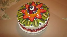 my first fruit decorated cake