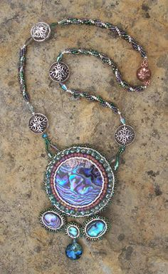 Evensong Bead Embroidered Necklace by PaintedTreeStudio on Etsy, $175.00