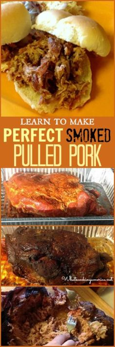 Learn To Make:  Perfect Smoked Pulled Pork Recipe  |  whatscookingamerica.net  |  #pulled #smoked #pork