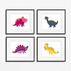 Cute Friendly Dinosaur Print Set Girls Boys Kids Toddler Baby