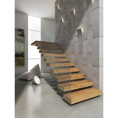 KWA KWA - Indoor tile / wall / concrete / by itaibaron Tiled Staircase, Concrete Staircase, Concrete Tiles, Staircase Railings, Staircase Ideas, Home Stairs Design, Interior Stairs, Stair Walls, House Stairs