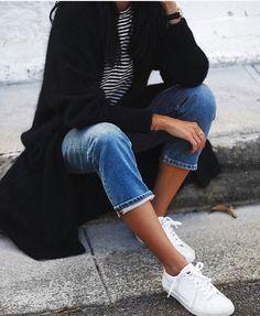 Fashion jeans black jacket