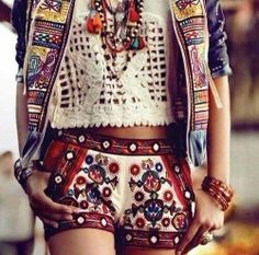 EMBROIDERED SHORTS tag is perfect on Pinterest