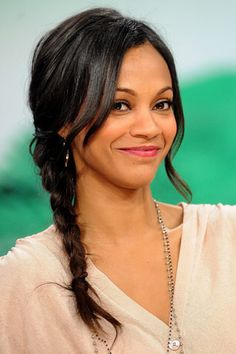 """Zoe Saldana has just confirmed that she is pregnant with twins. Zoe Saldana twins have been confirmed. Apparently, the star of """"Guardians of the Galaxy"""" has two peas in her pod. Zoe Saldana, Zoey Kravitz, Britney Spears, Star Treck, Ethiopian Beauty, Yoga Hair, Most Beautiful, Beautiful Women, Jada Pinkett Smith"""