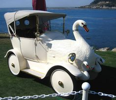 Funny automobile - Swan Song - or maybe Cygnet Song Strange Cars, Weird Cars, Cool Cars, Crazy Cars, Swan Pictures, Car Camper, Pebble Beach Concours, Float Your Boat, Swan Song