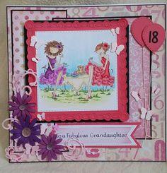 18th birthday card using stamping bella stamp