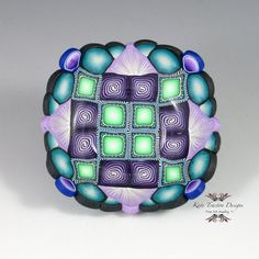 Polymer Clay Ring Bowl, Purple, Teal Blue, Mint Green, by Kate Tracton Designs, $32.00
