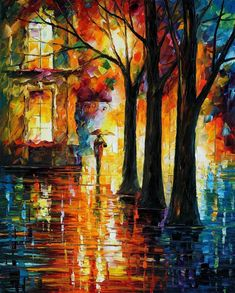 The modern impressionistic art of colors by Leonid Afremov