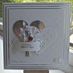 Image white wedding card