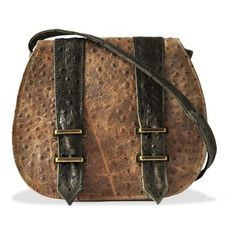 Hermann Saddle Bag - Ostrich leather? I think I could find a use for it. ;)