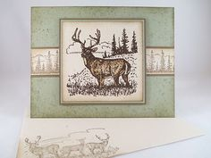 """Stampin Up """"Noble Deer"""" Handmade Any Occasion Card 