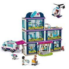 Bela Compatible Legoe giftse Girls Friends Heartlake City Hospital 41318 Building Blocks DIY Bricks Toys for Children City Hospital, Hospital Gifts, Lego Friends Sets, Friends Series, Lego Juniors, Building Blocks Toys, Buy Lego, Model Building, Lego City