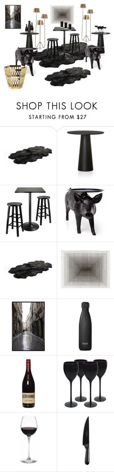 """""""blackpigz"""" by manonth on Polyvore featuring interior, interiors, interior design, thuis, home decor, interior decorating, Moooi, Winsome, Bowron en Pottery Barn"""