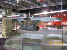 The ORIGINAL USS Enterprise model, used to film the 60's series.  Displayed, somewhat unrecognized, in a sub-floor souvenir shop at the Smithsonian Air & Space Museum in Washington DC.