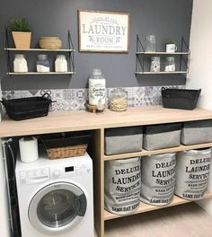 Laundry Room Organization, Laundry Room Design, Laundry Rooms, Laundry Room Inspiration, Interior Inspiration, Small Laundry, Küchen Design, Design Ideas, Small Bathroom