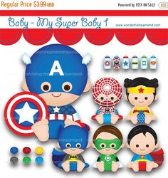 50% OFF Superhero Baby Boys Girls 1 PNG SVG Eps Cliparts