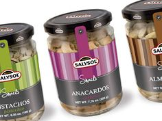 Salysol Snacks on Packaging of the World - Creative Package Design Gallery Jar Packaging, Label Design, Package Design, Coffee Logo, Olive Gardens, Jar Labels, Packaging Design Inspiration, Pistachio, Spices