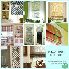 Roman Shade Collection - Curtain Call Creations 630-737-1510