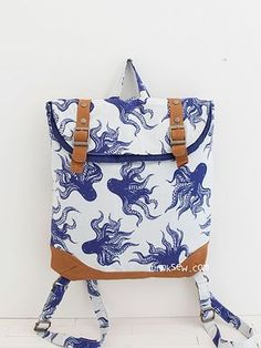 1315 Brigitta Foldover Backpack PDF Pattern - ithinksew.com Sewing  Material 618689ab66d6e