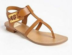 New DV By Dolce Vita Cognac Hani T-Strap Buckle Gladiator Thong Sandals Size 10 #DVbyDolceVita #TStrap