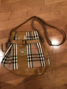 446e5e3ba1cfa0 Burberry Bucket Bag Vintage 1990s Burberry Bucket Bag, Canvas Leather,  Leather Shoulder Bag,