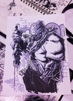 "Graffiti Blackbook work by ""Aztekh"""