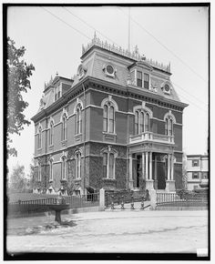 original photos of brush park detroit - Bing images Detroit Neighborhoods, Second Empire, Grand Homes, Cross Country Skiing, Historic Homes, Victorian Homes, Architecture, Canoe, Old Houses