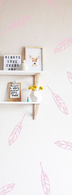 Open Feathers  WALL DECAL by TheLovelyWall on Etsy
