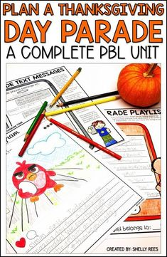 Thanksgiving project based learning is fun for kids in grade, and grade with this Plan a Thanksgiving Parade PBL unit! Thanksgiving Classroom Activities, 4th Grade Activities, Thanksgiving Writing, Thanksgiving Projects, Thanksgiving Parade, Writing Activities, 4th Grade Crafts, Stem Activities, Reading Projects