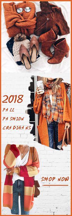 2018 fall fashion cardigans orange season 2018 Herbstmode Strickjacken orange Saison Pin: 564 x 1686 Look Fashion, Fashion Outfits, Womens Fashion, Fashion Trends, Mode Style, Style Me, Moda Outfits, Look 2018, Autumn Fashion 2018