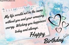 Wish Your Loving One A Very Happy Birthday😍 :) 💜❤️💜❤️💜❤️ 😍 :) Click Here:- #HappyBirthdayWishes #HappyBirthdayFriendWishes #FunnyBirthdayWishesForBestFriend #HappyBirthdayBestie #HappyBirthdayFunnyWishes Happy Birthday Bestie, Belated Birthday Wishes, Happy Birthday Wishes Images, Happy Brithday, Happy Birthday Text, Birthday Wishes For Friend, Wishes For Friends, Birthday Quotes, Dad Images