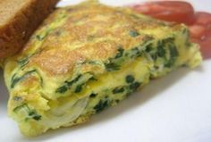 One of Carla's grandmother's original Cuban recipes. :My mother prefers this recipe without the scotch bonnet peppers Quiche Recipes, Cheese Recipes, Cooking Recipes, Egg White Omelette, A Food, Food And Drink, Cuban Cuisine, Jamaican Cuisine, Spinach And Feta