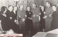 Hitlers 55 birthday 20 April 1944 Eva is 3rd from the left.
