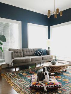Blue living room design sample | Living Rooms | Pinterest | Living ...
