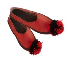 Albanian Traditional Leather Shoes with Tassel  Opinga