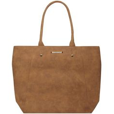 Dorothy Perkins Tan Faux Suede Shopper Bag ($35) ❤ liked on Polyvore featuring bags, handbags, tote bags, brown, brown tote bag, brown tote, shopping tote bags, shopper purses and brown purse