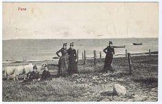 FANØ piger kort fra 1915 - ( 7037)