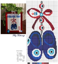 En iyisi araya bir ''nazar '' çalışması ekleyim diye düşündüm :)) Designed and stitched by Filiz Türkocağı...( Turkish evil eye )