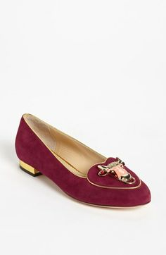 Charlotte Olympia 'Taurus' Flat available at #Nordstrom | Hey I'm a Taurus and I don't like these! | $695.00
