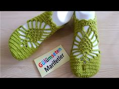 Making lace booties (brand new model of my own design) / Chained booties / almond bootie Crochet Slipper Pattern, Crochet Slippers, Crochet Patterns, Lace Booties, Sock Shoes, Crochet Clothes, Fingerless Gloves, Arm Warmers, Free Crochet