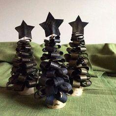 Kerstboompjes van fietsband