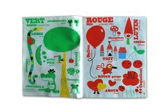 Bilingual Organic Soft Books Teach Kids Shapes, Colors and Numbers in French and English