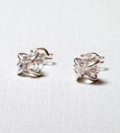 Silver Herkimer Diamond Stud Earrings by Gunnard Jewelry on Scoutmob Shoppe. Dig the sterling silver posts and simple setting on these sparkly little gems.