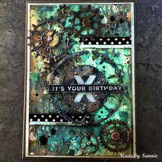 Made by Sannie: Grunge it up card with video tutorial - #sssmchallenge