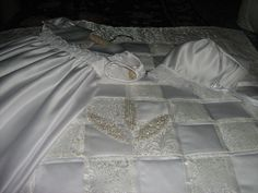 Christening Gown, Bonnet, and Quilt