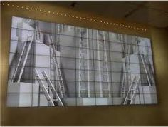 Multi-Monitor display technology has opened up new avenues in displaying artwork as well. This example of a video wall shows that large images can be created to make bold artistic statements.